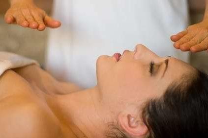 woman having a healing massage