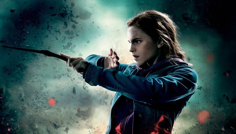 Hermione Granger Casting Magic with Wand