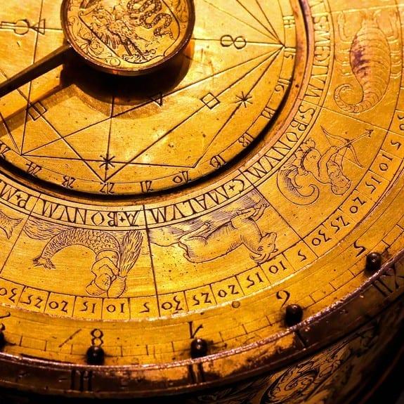 ancient golden zodiac instrument