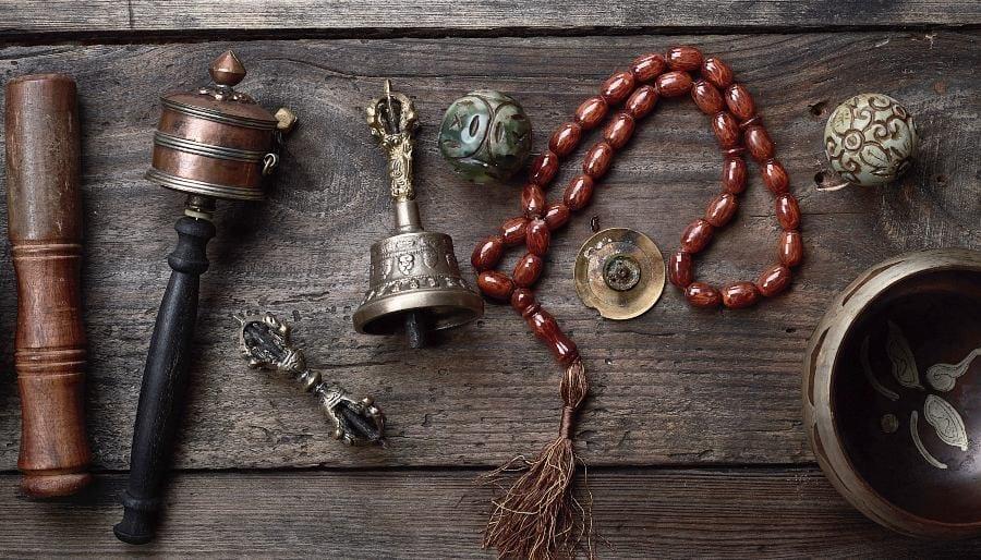 Tibetan Ritual Table with Copper