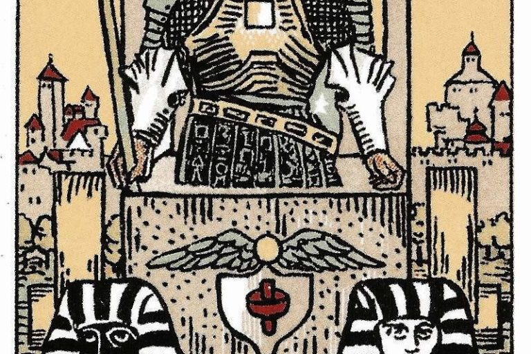 The Chariot Tarot Card from the Rider-Waite Tarot Deck