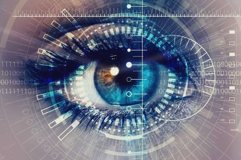 Eye Close Up with Digital Scan
