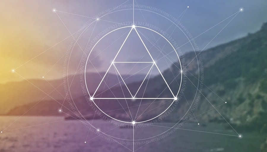 Sacred Geometry over Dreamy Landscape