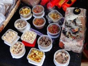Various frankincense & myrrh resins.
