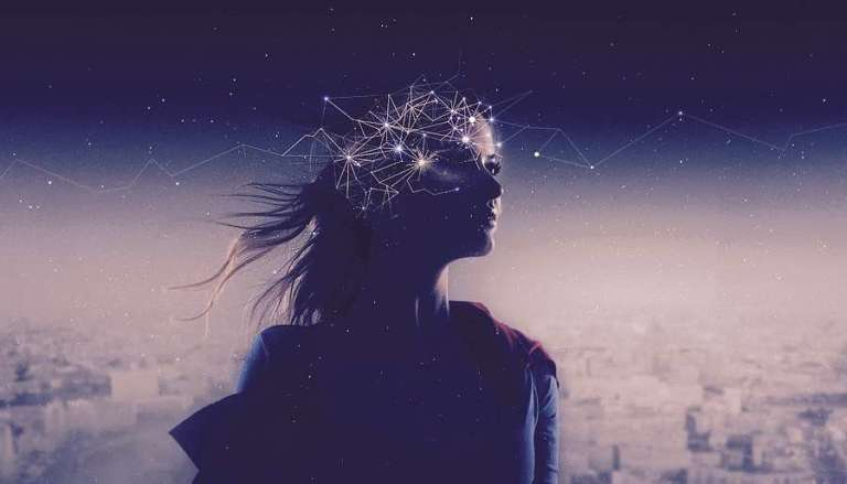 Woman with Cosmic Mind & Thoughts