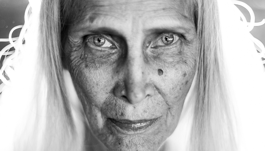 Black & White Portrait of Older Woman, Divine Feminine Awakening