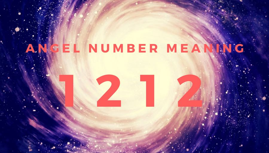 ANGEL NUMBER 1212 ON GALAXY SWIRL