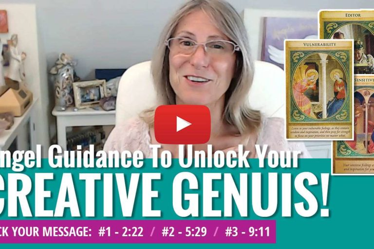 youtube video thumbnail - angel messages creativity