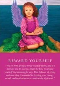 angel card reward yourself