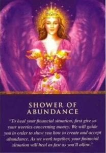 angel card shower of abundance