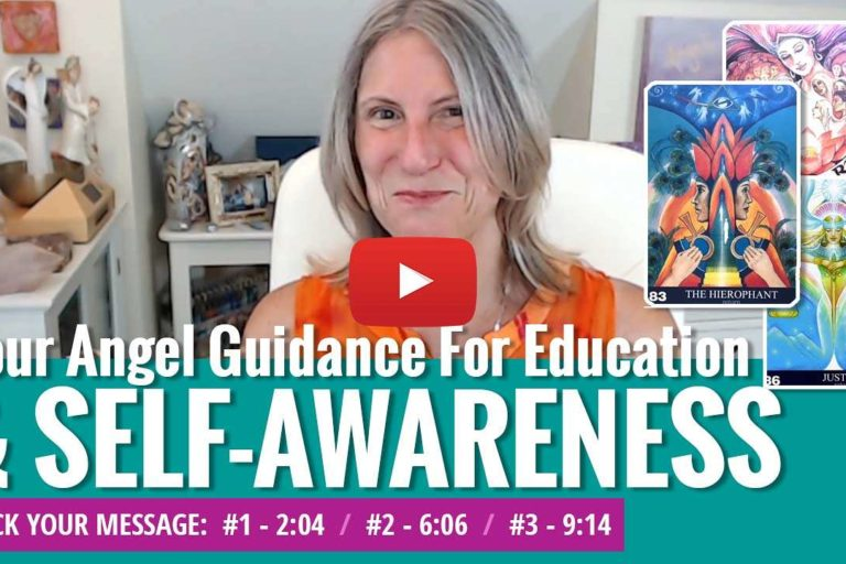 youtube video thumbnail - angel messages for self awareness