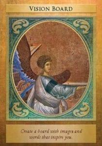 angel card vision board with archangel gabriel