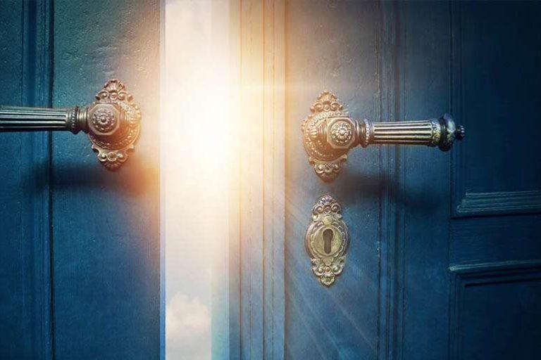 open door where destiny awaits