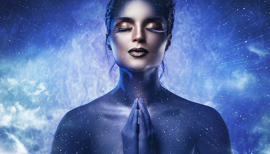 law-of-attraction woman manifesting