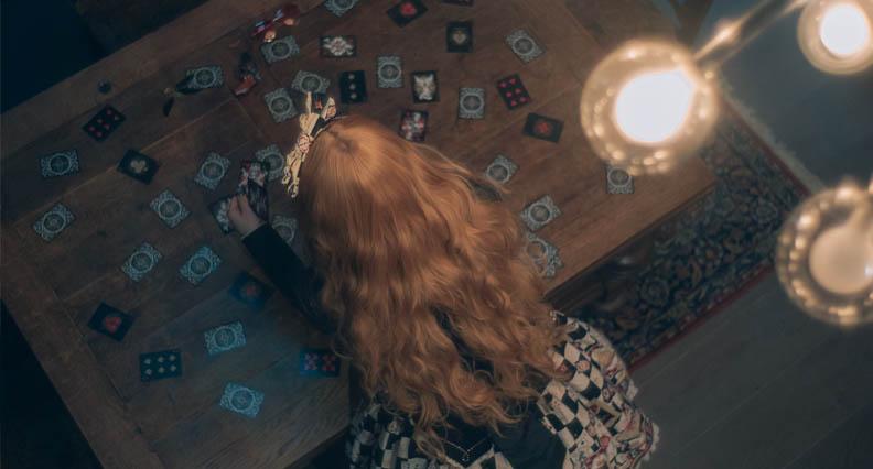girl performing blessing spell