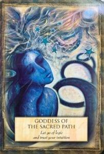 angel message goddess of the sacred path