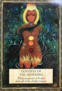 angel message goddess of the shadows
