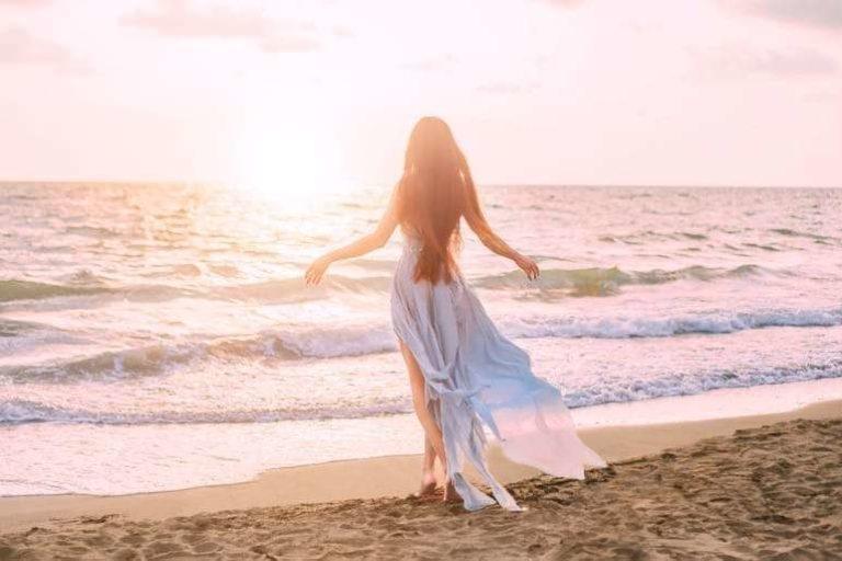 Angelic Woman on beach